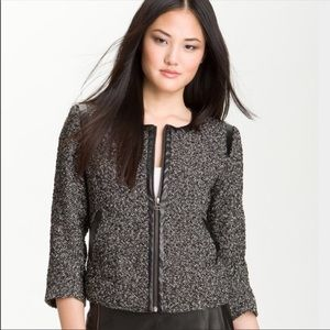 Halogen Nordstrom Tweed Blazer Jacket Size 6